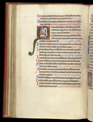 Psalm 42 with David and the deer, in a Psalter